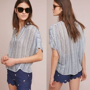 Anthro Cloth & Stone | Striped Relaxed Top Blouse